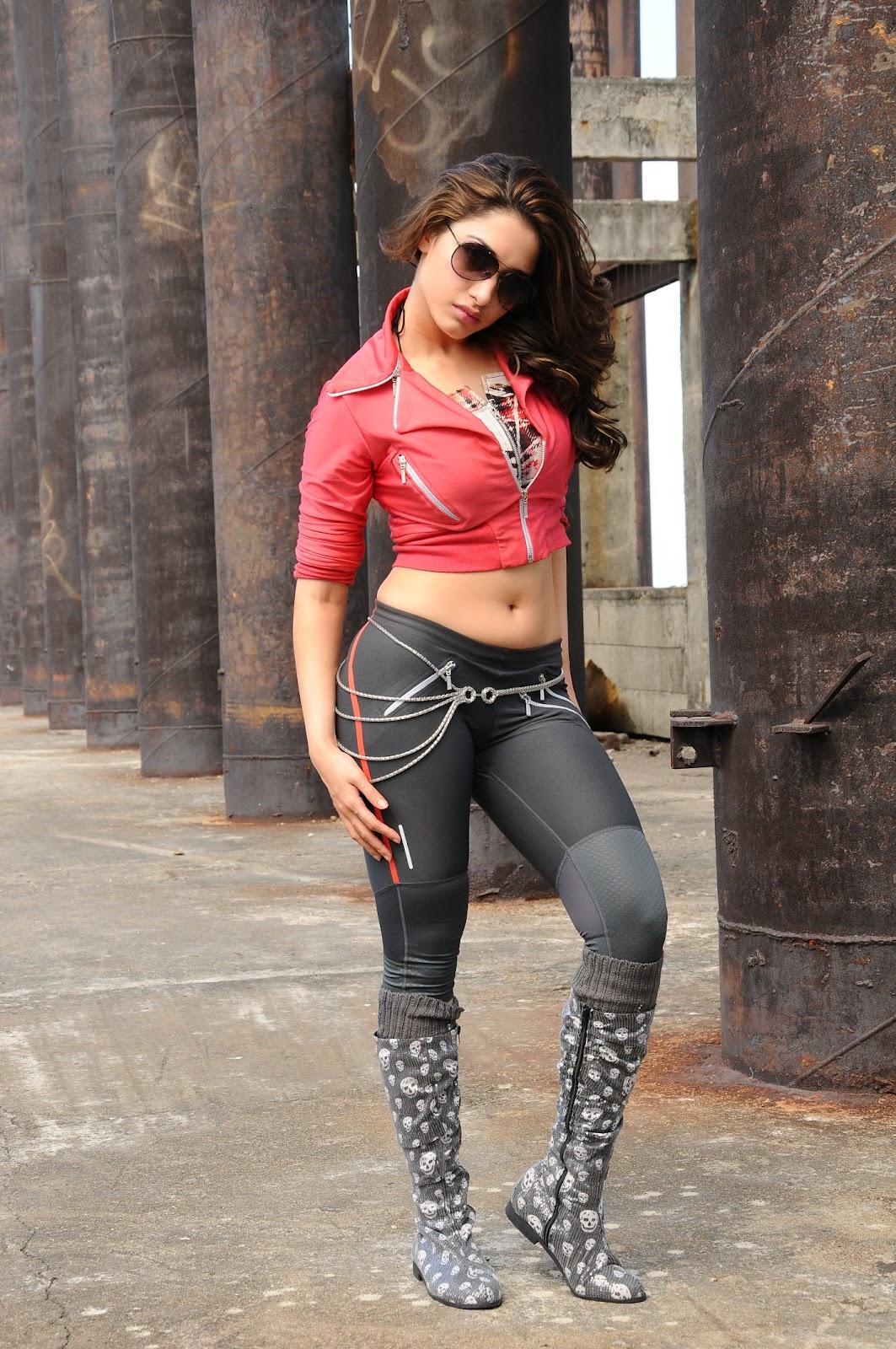 Tamannaah Bhatia in Pink Bikini in Rebel Movie